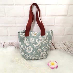 Cute Floral Small Tote Purse Lunch Bag
